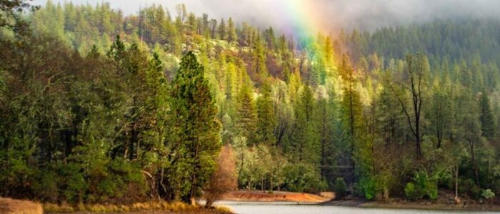 Lake Francis Fire Rainbow