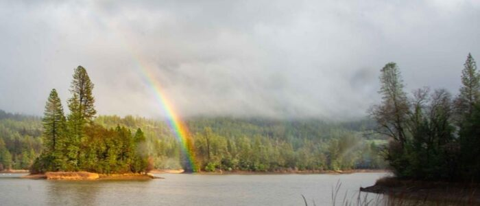 Lake Francis Island Rainbow